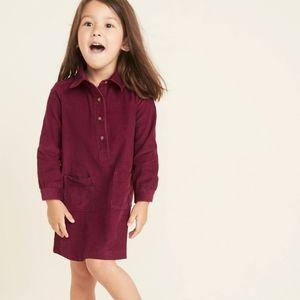 OLD NAVY • Corduroy pop-over shirt dress